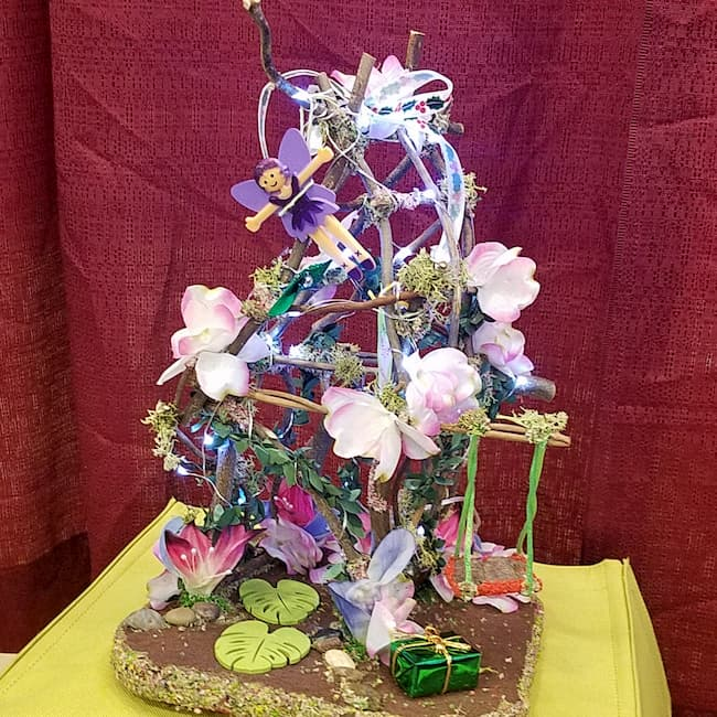 Light Up Miniature Twig Fairy Garden House. Includes a Fairy Doll!