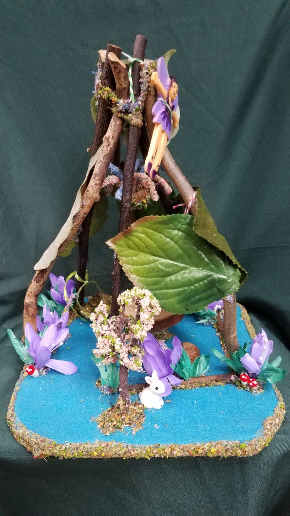 Fairy Garden House with Tiny Bunny Fairy Doll Included