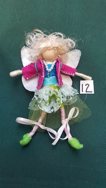Deluxe Fairy Doll - Removable Clothes - Blonde Curly Hair -  Lace Skirt - Fuschia Jacket - 6