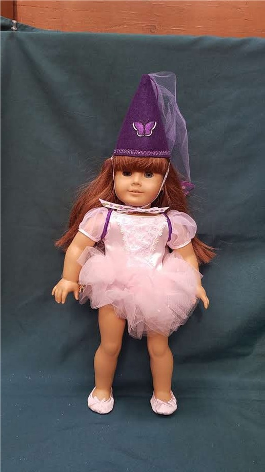 Combo Fairy Wings and Princess Hat for Dolls Purple